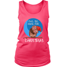 Funny OWL be Home For Christmas Animal Pet Lover Women's Tank Top Shirt