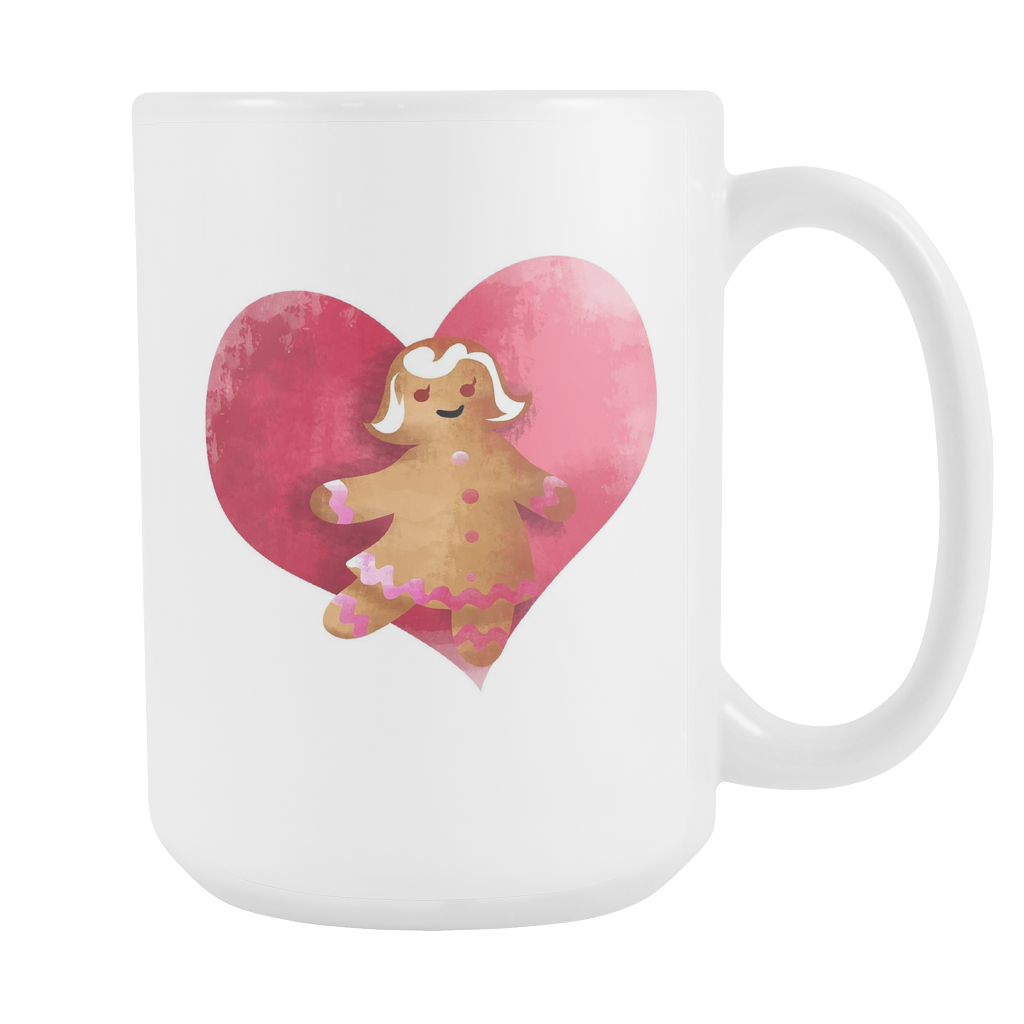 Gingerbread Woman Christmas White 15oz Mug