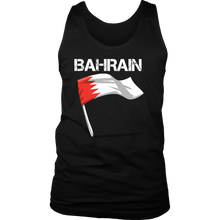 Bahrain Graphic Patriotic Vintage Flag Men's Tank