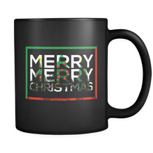 Christmas Costume Mug Merry Snowman Christmas Gift Black 11oz mug
