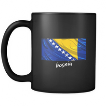 Bosnia Proud Vintage Flag Black Mug 11oz