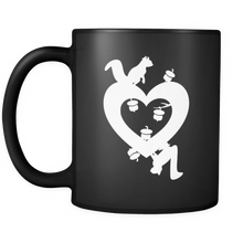 """Nuts About You - Squirrel Nuts in Love"" - Custom Ceramic Mug - 11 oz Travel Mug"
