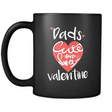 "Valentine Mug - ""Dad's Cute and Sweet Valentine"" - Personalized Black Ceramic Mug from Lifehiker Designs"