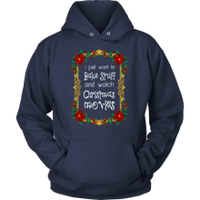 Bake and Watch Christmas Movies Funny Novelty Hoodie