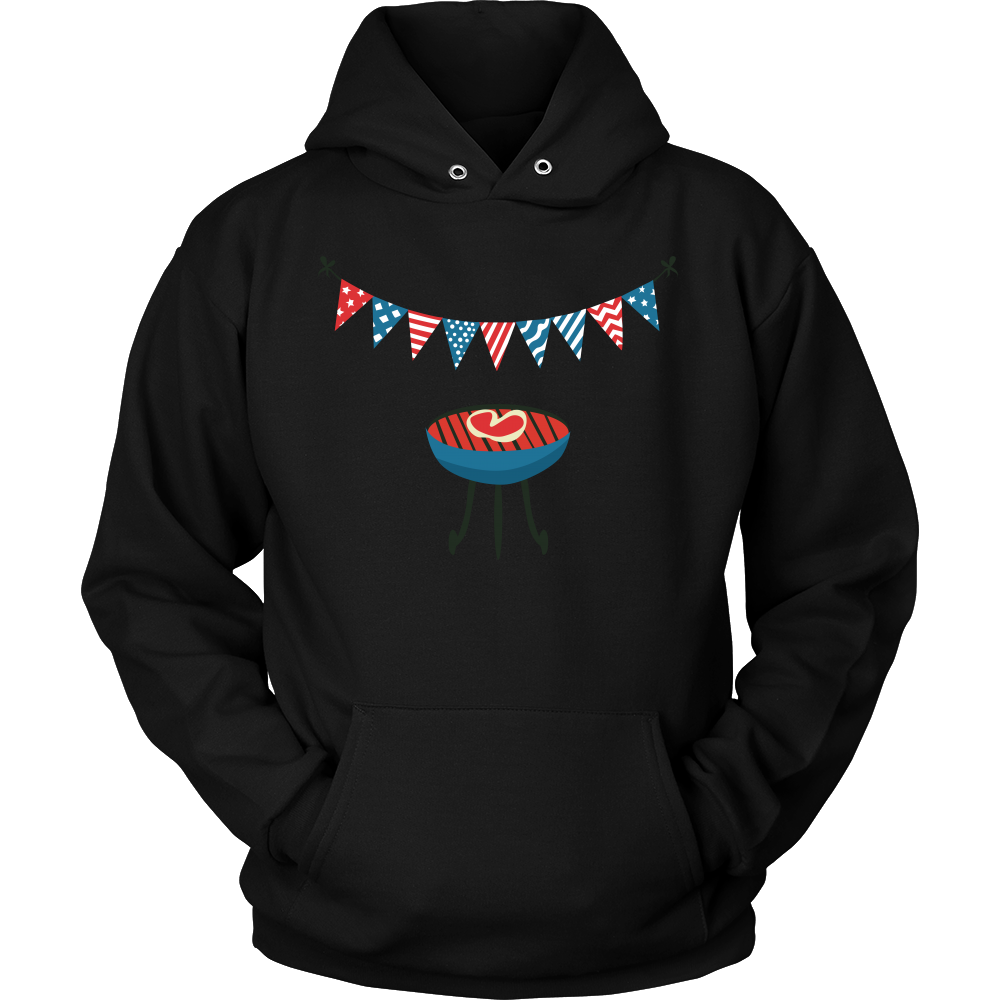 Backyard Party In The USA Funny American 4th Of July Hoodie
