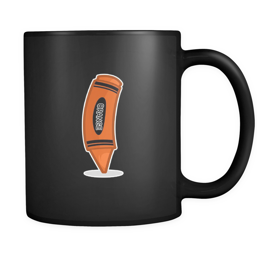 Orange Coloring Pencil, Artists Arty Creative Black 11oz Mug