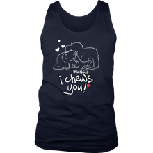 Heart Design Men's Tank - I Chews You Fun Design and Quote on Men's Tank