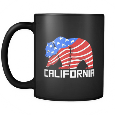 California Mug - Grizzly Animal Bear 'California' Stamped on Mug