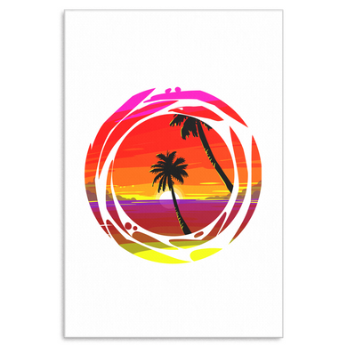 Palm Tree Beach Summer Vacation Tropical Canvas Art Print