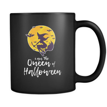 Queen of Halloween Night Happy Halloween Black 11oz Mug