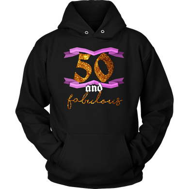 50th Birthday Fifty and Fabulous BDay Party Hoodie