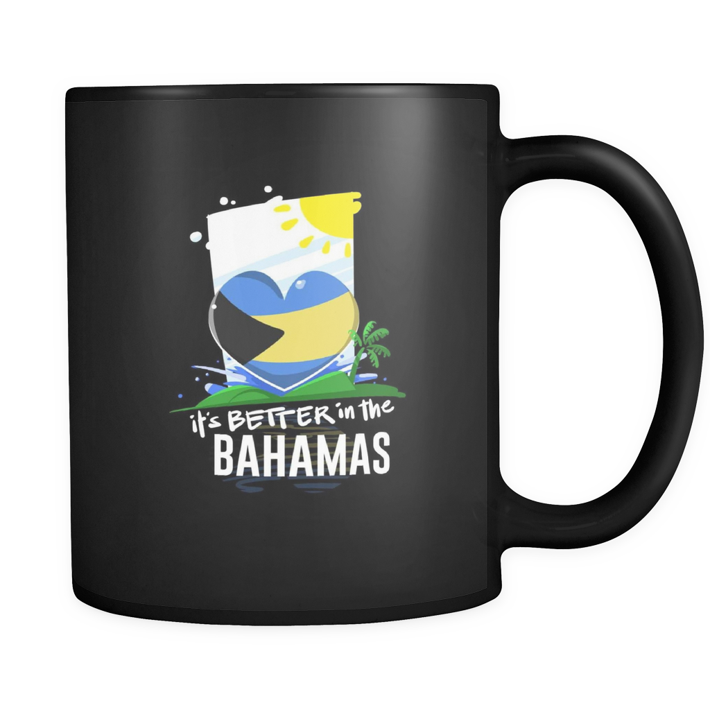 Bahamas Life is Better in the Caribbean Black Graphic Mug