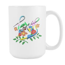 Texas USA Is My Home,Flowers Artistic Watercolors White 15oz Mug