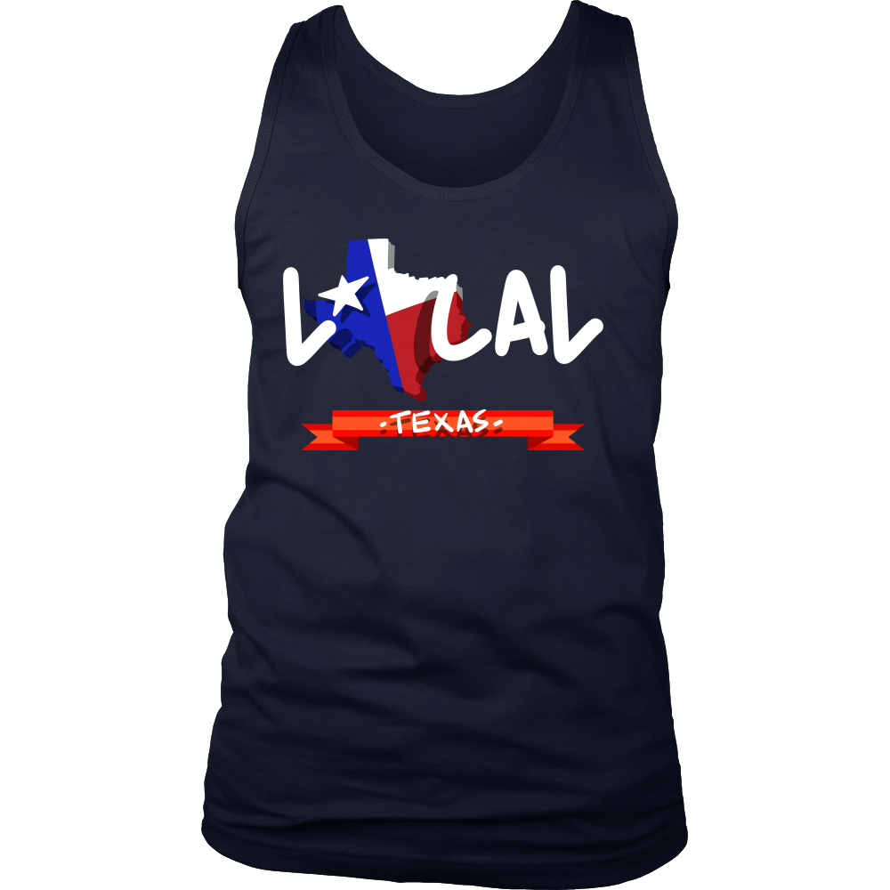 Texas State Map Origin Local Urban Home USA Men's tank