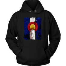 Colorado State Patriotic US Vintage Flag Hoodie