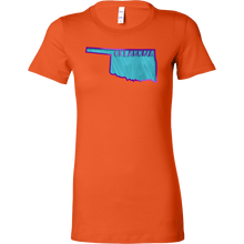 Love Oklahoma State Flag Map Outline Souvenir Bella Shirt