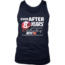 Funny Men's 8th Year Anniversary Statement Men's tank