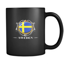 Sweden, Swedish Flag Colors, Pride, Country  Black 11oz mug