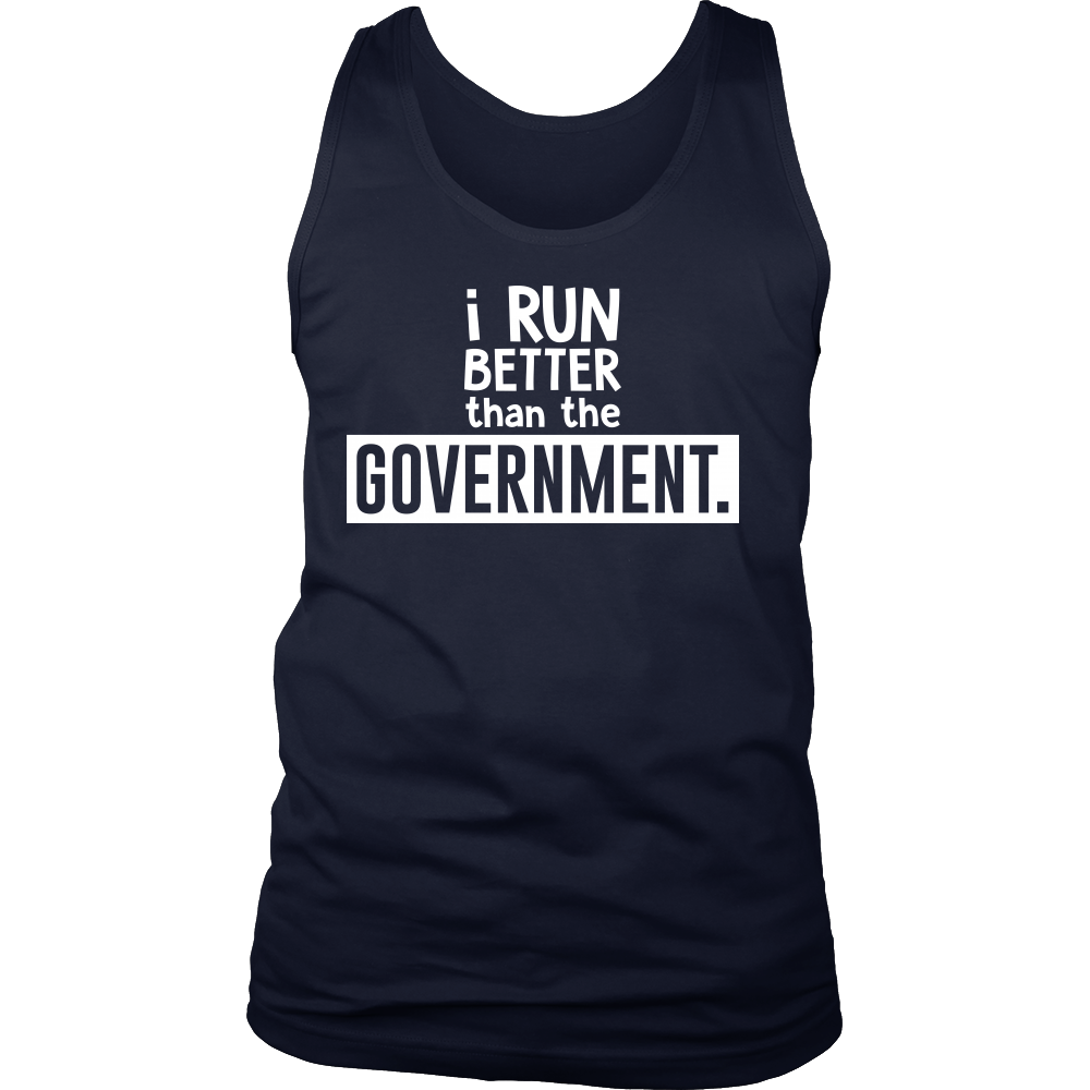 Fitness,Political I Run Better Than The Government Funny Pun Tank