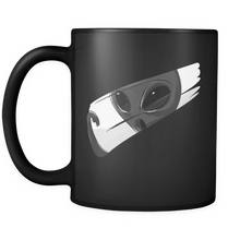 Alien Design on Black 11 oz Mug