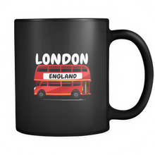 Great Britain British UK London Double Decker Bus  Black 11oz mug