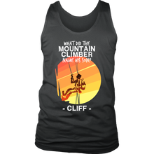 Joke Novelty Gift Tank,What Did The Mountain Climber Name His Son?