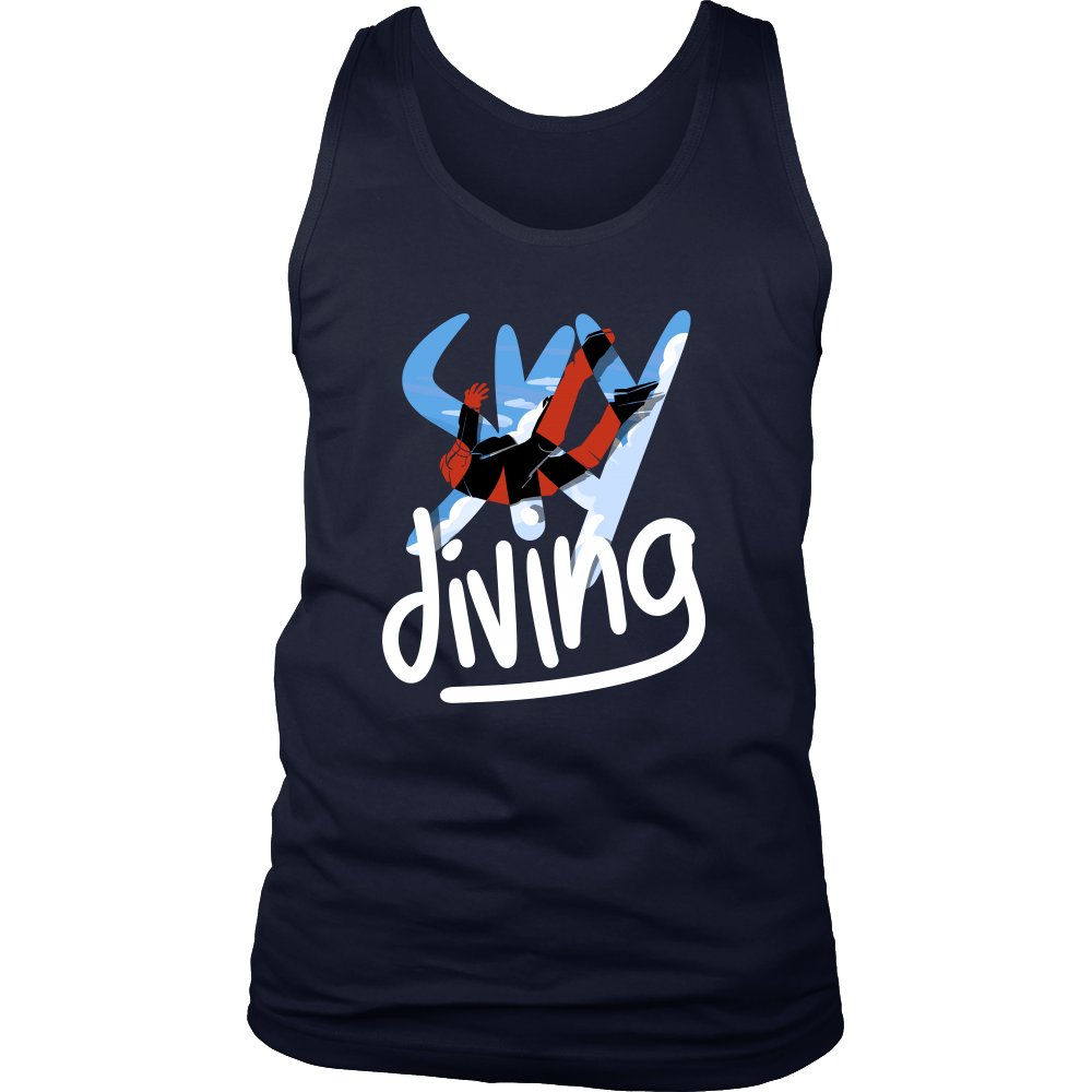 Sky Diving Sports Novelty Gift Men's tank