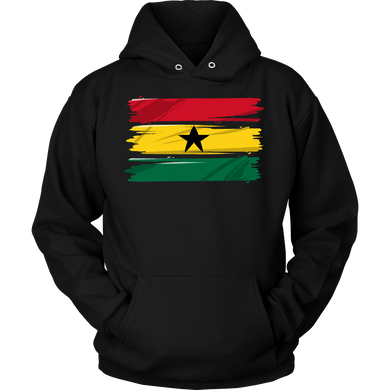 Ghana Africa Vintage Retro Distressed Flag Hoodie