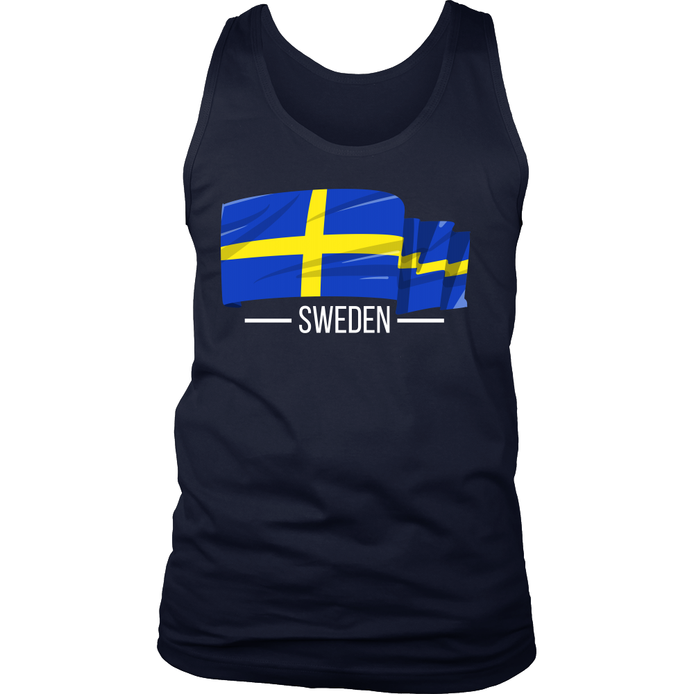 I Love Sweden, Swedish Flag Colors, Pride, Country Gift Tank