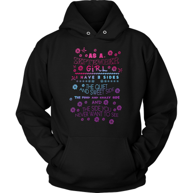 September Girl, Crazy, Sweet and Fun Birthday B Day Gift Hoodie