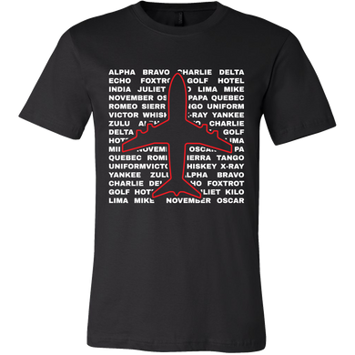 Aviation Phonetic Alphabet Pilots Airplane T Shirt