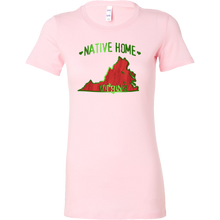 Love Virginia State Native Home Map Outline Souvenir Bella Shirt