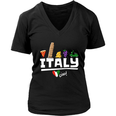 Love Italy and Everything Italian Culture Women's V-neck