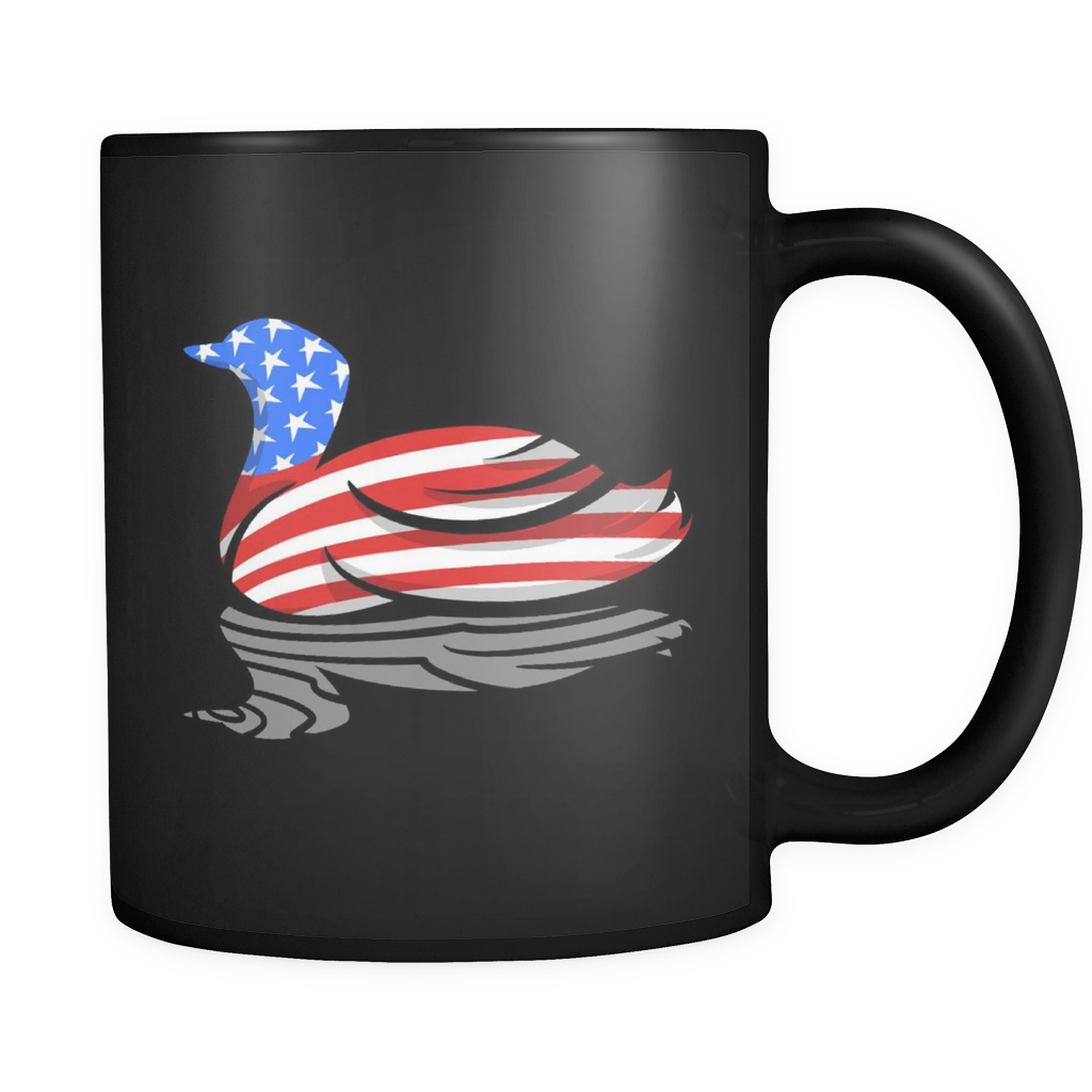 Minnesota Animal Mug - Awesome State Bird 'Common Loon' Design on Black 11oz Mug