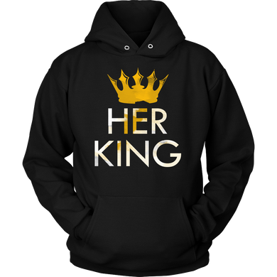 I am Her King Royalty Matching Couple Hoodie