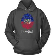 Haiti Haitian Pride Flag Fingerprint Country Hoodie