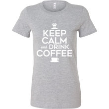 Keep Calm and Drink Coffee Novelty Bella T-shirt For Coffee Lovers