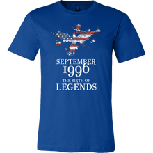 September 1996 The Birth of Legends Birthday T shirt