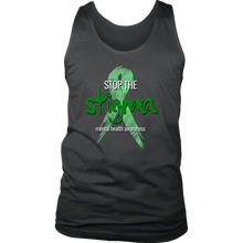 Mental Health Awareness Stop The Stigma Men's tank