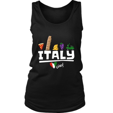 Love Italy and Everything Italian Culture Women's Tank Top Shirt