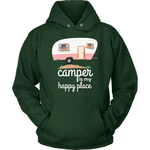 Camper Is My Happy Place Cute Camping Baby Hoodie