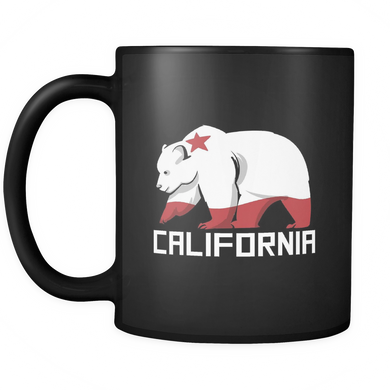 California Flag Mug - Grizzly Animal Bear 'California' Stamped on Mug