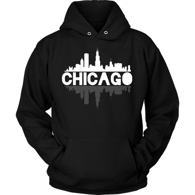 Chicago City Skyline Landmark U.S.A Souvenir Travel Hoodie
