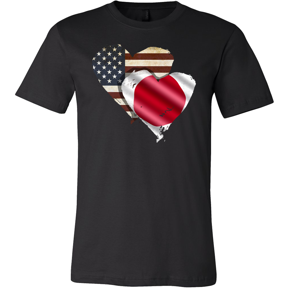 Heart U.S.A National Flag Patriots T-shirt