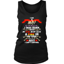 Born in May With Fire in My Soul Birthday B-day Gift Women's Tank Top Shirt
