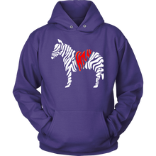 Zebra Print, Love Zebras, Animal Awareness Graphic Hoodie