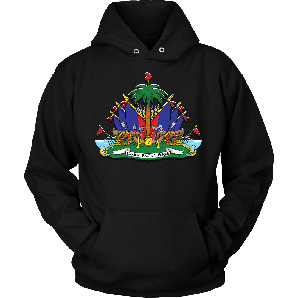 Haiti Haitian Pride Flag Coat of Arms Emblem Country Hoodie