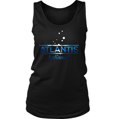 Bahamas Atlantis, Beach, Sea and Sun Shirt Underwater Women's Tank Top