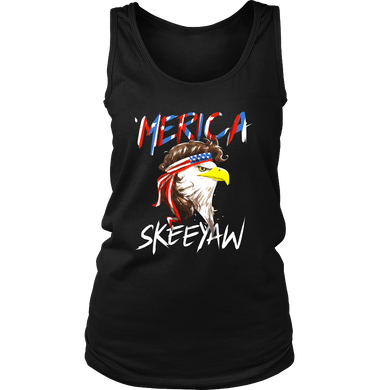 Eagle Mullet Merica American USA Shirt 4th of July Freedom Women's Tank Top Shirt