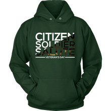 Soldier Salute Veterans Day Support and Honor Hoodie